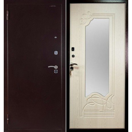 Входная дверь Ampir с зеркалом Ольга