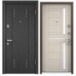 Входная дверь Torex Super OMEGA-10 RP-3 черный шелк, RS-2 перламутр белый