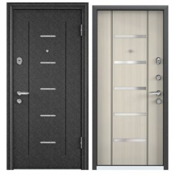 Входная дверь Torex Super OMEGA-10 RP-4 черный шелк, RS-1 перламутр белый